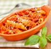Nudeln mit Tomaten-Käse-Sauce
