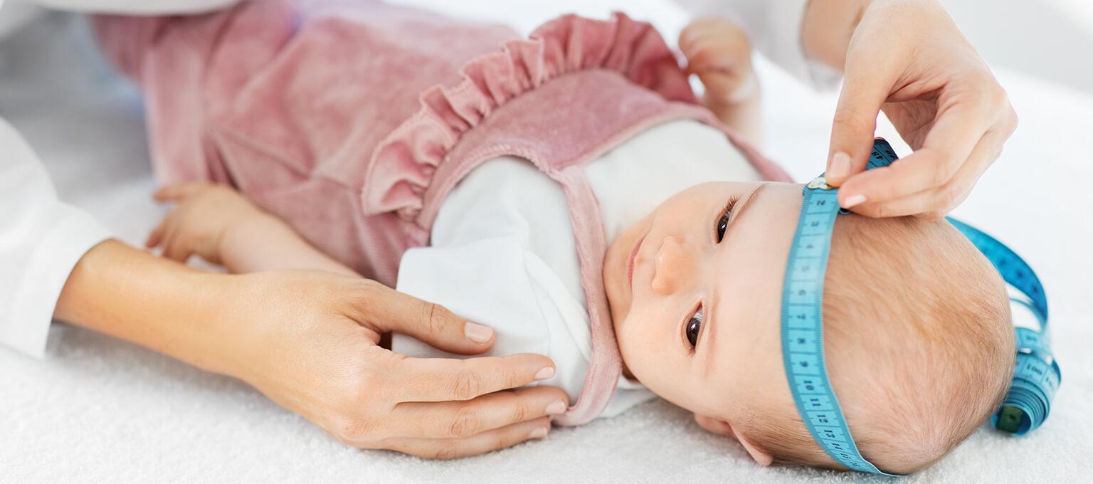 Kopfumfang von Babys messen
