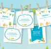 Pampers Geburtskarten zum Herunterladen