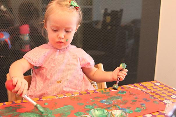 Bastelideen Weihnachtsbasteleien für Kleinkinder