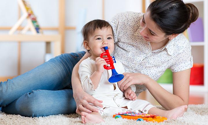 Pinzettengriff beim Baby