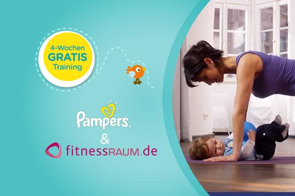 4 Wochen gratis Training für Pampers-Mitglieder bei fitnessRAUM.de