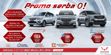 Promo serba 0 Wuling Indonesia