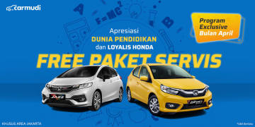 Promo April Free Paket Servis Honda