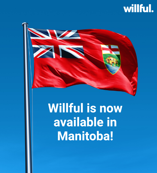 Willful is now available in Manitoba!