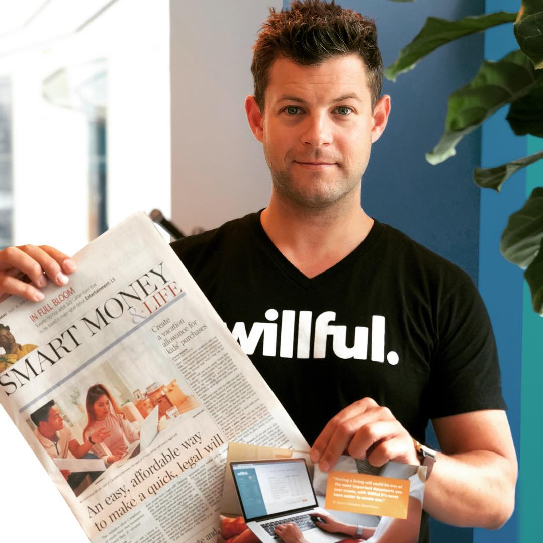 Kevin CEO of Willful featured in Toronto Star - Estate Planning and Online Wills