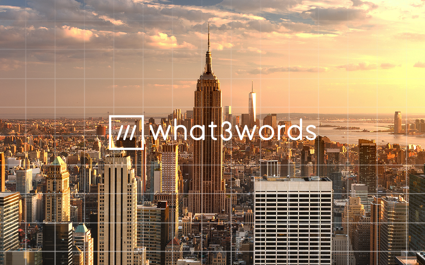 what3words grid coverage over New York City.