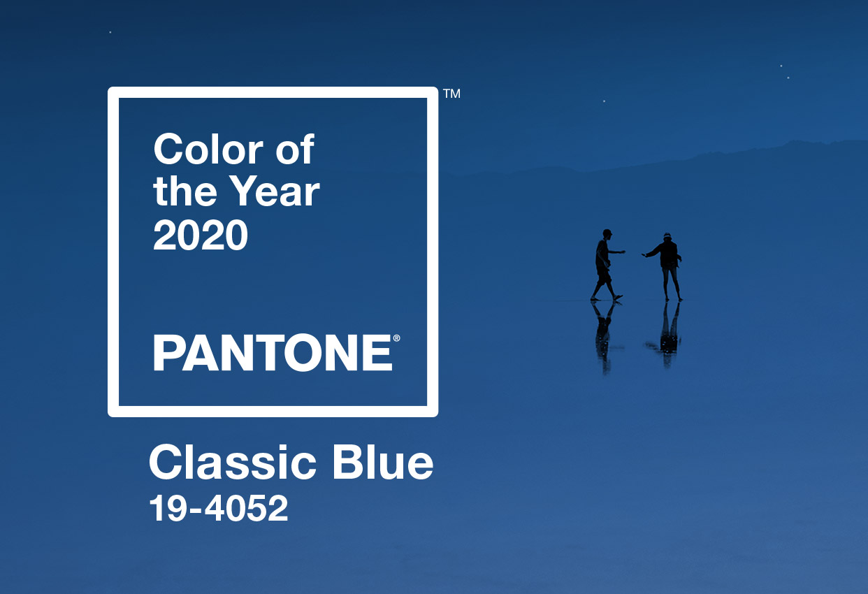 Official Pantone Classic Blue banner.