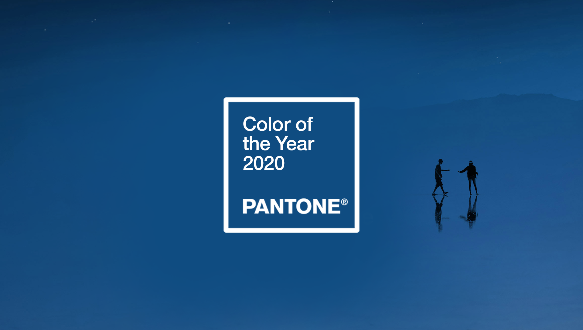 The official Pantone Classic Blue image.