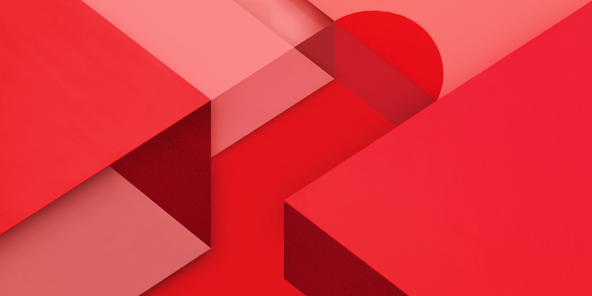 Red geometric imagery based on material design.