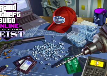 For the April 22nd update, Grand Theft Auto Online features bonuses for The Diamond Casino Heist.