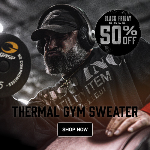 Get you favorite Gym Sweater at 50% discount. GASP Thermal Gym Sweater
