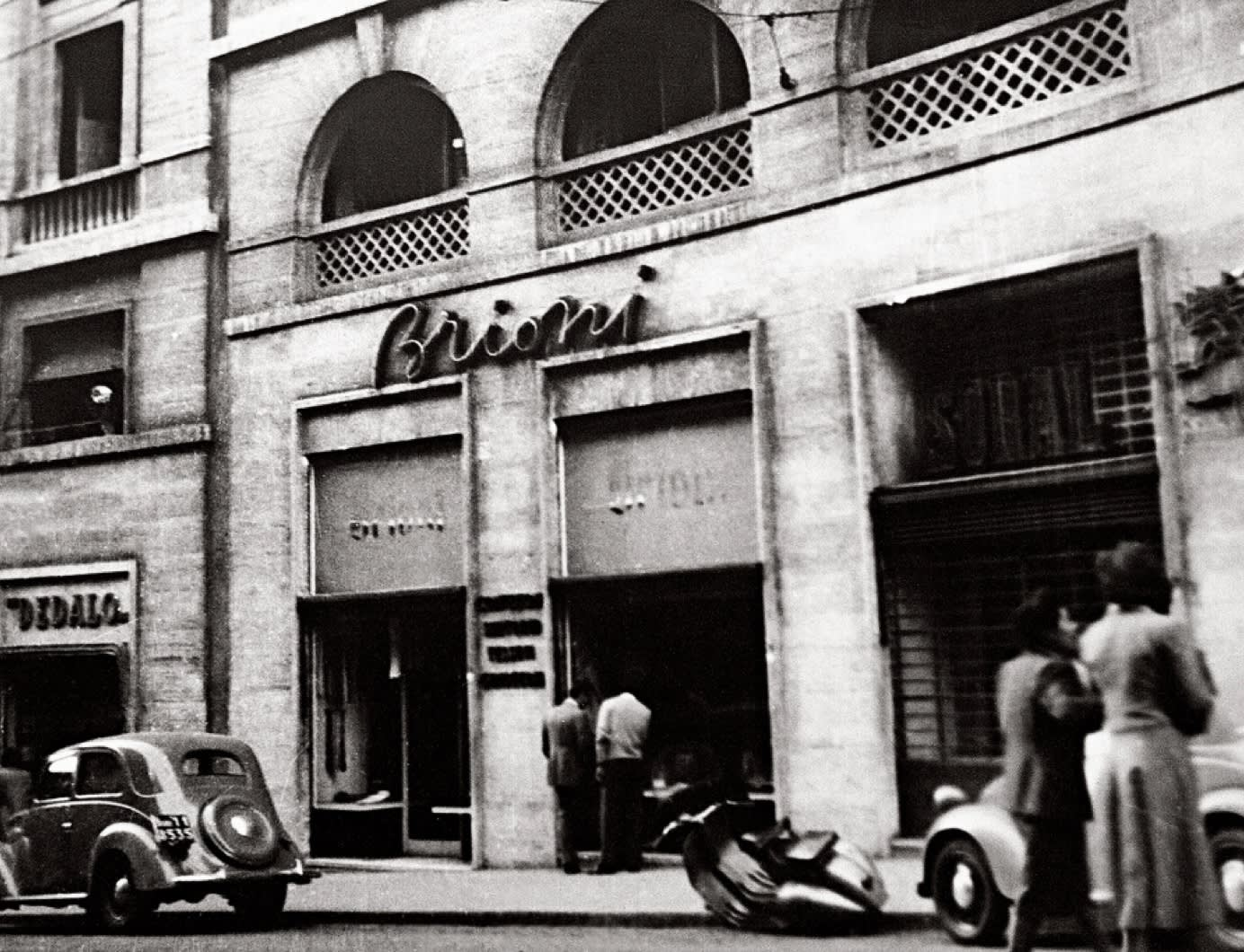 Brioni first store on Via Barberini 79, Rome