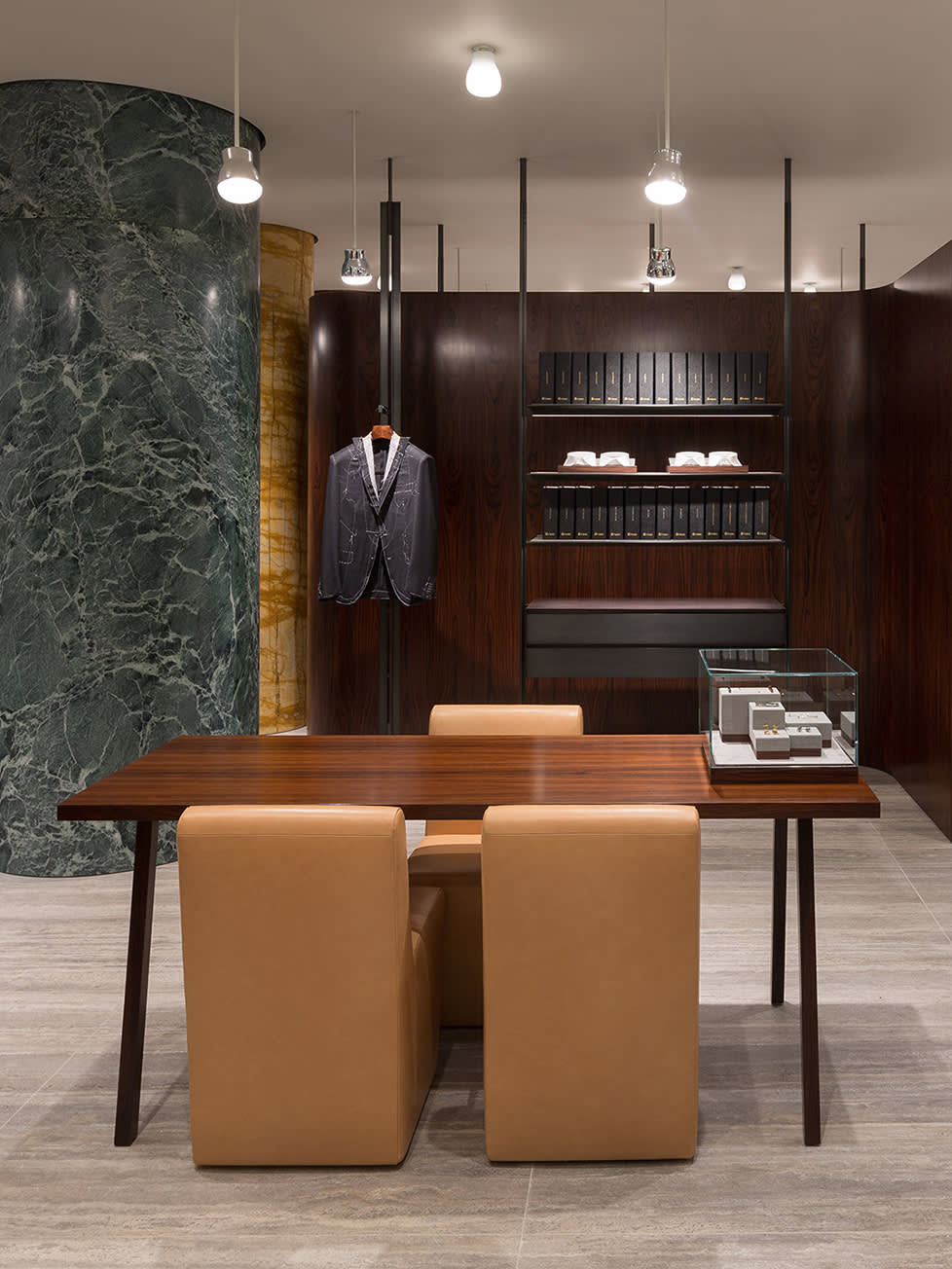 The VIP room of a Brioni store