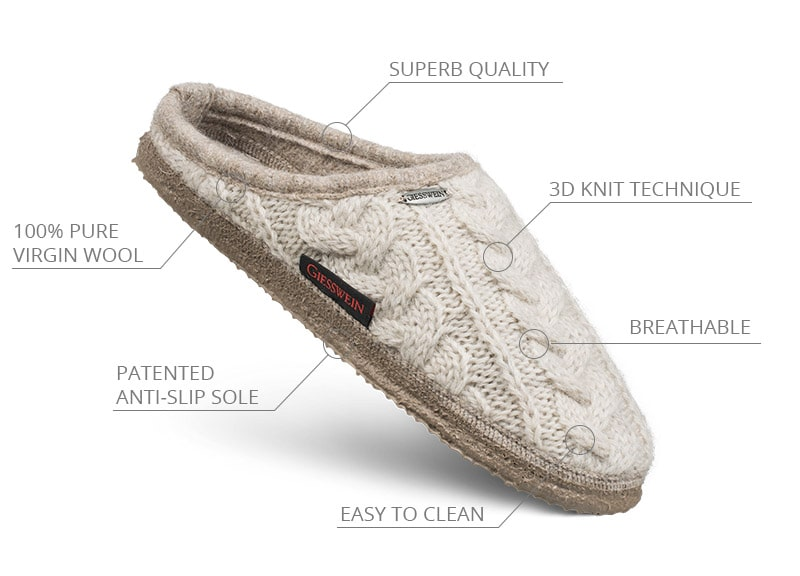 giesswein ethical slippers are produced to high standards
