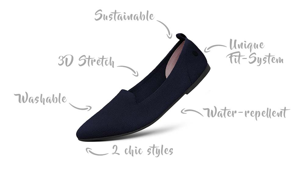 Recycled flats from Giesswein