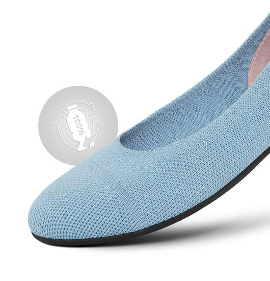 recycled ocean plastic flats from giesswein