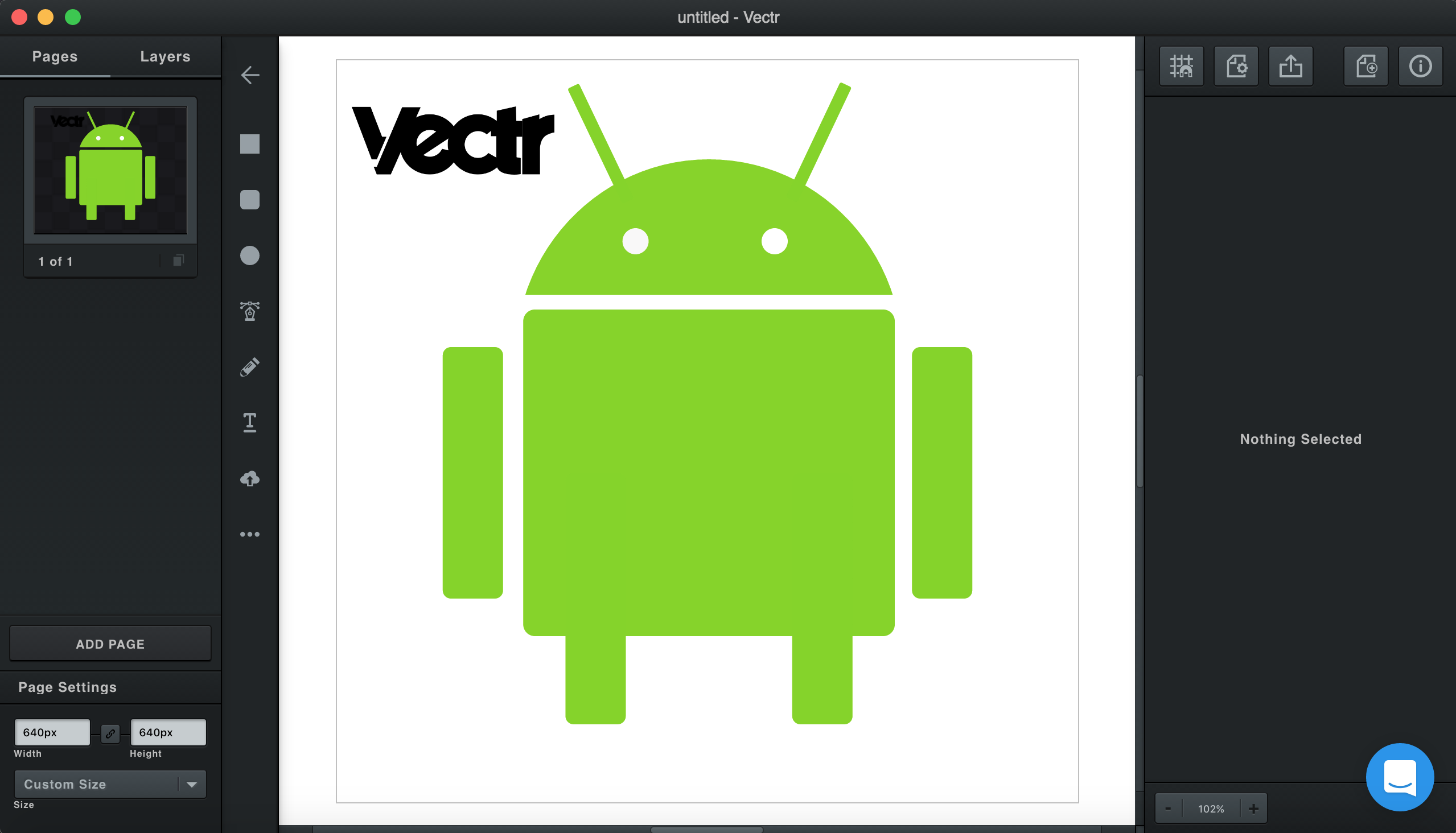 android logo with vectr