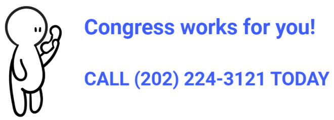 Person with phone and phone number for Congress