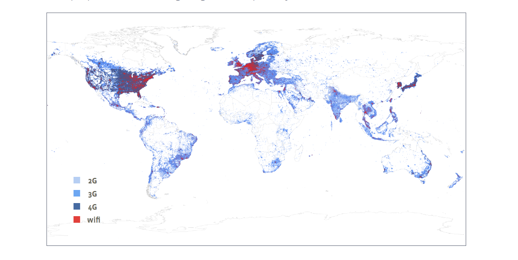 Facebook Coverage Heat Map