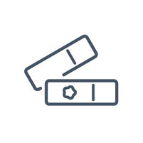 Illustrated icon of slides