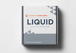 Light gray FoundationOne Liquid Kit Box
