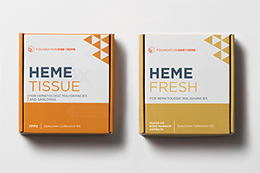 FoundationOne血红素标本运输工具箱 - 浅橙色和黄色套件