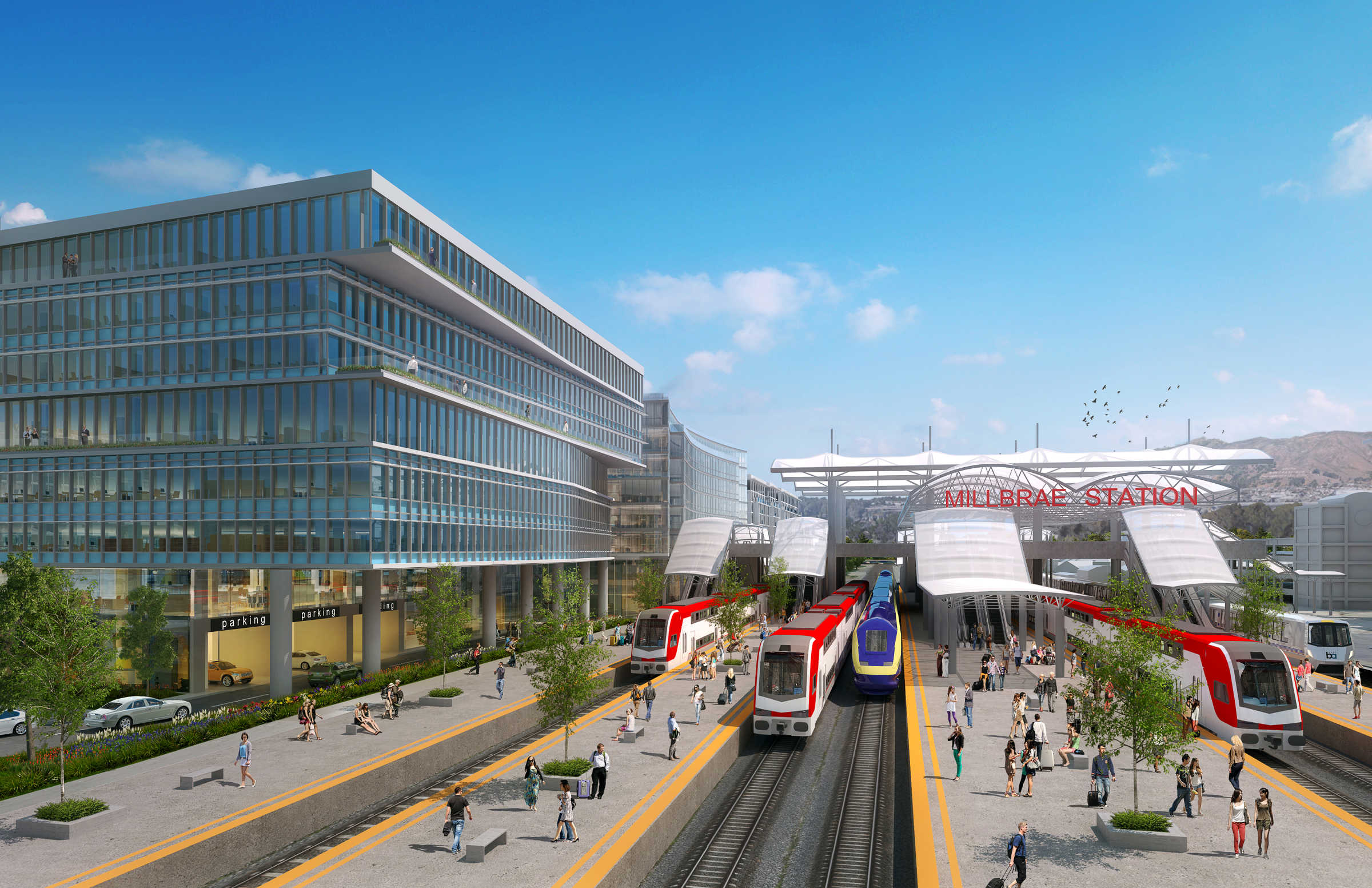 Millbrae Station Render 2