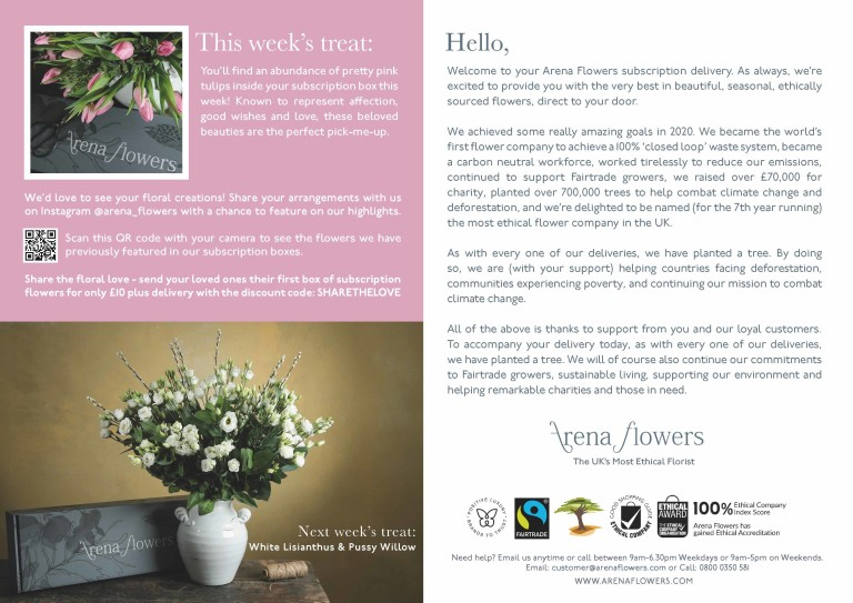 SUBSCRIPTION FLOWERS LEAFLET Pink Tulips WK 4 Page 2