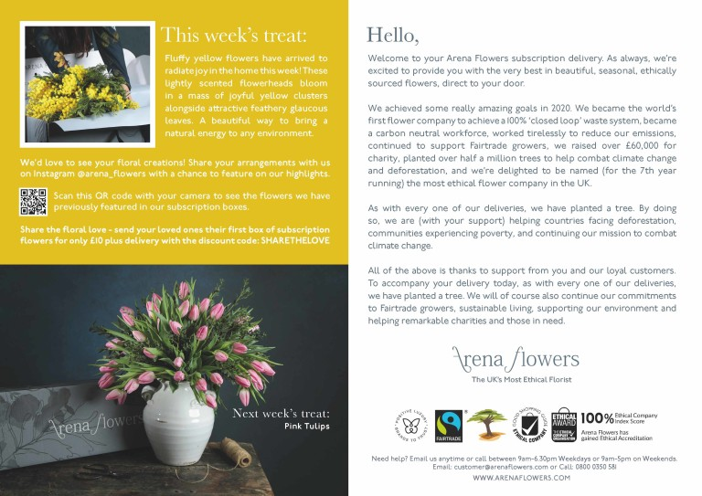 SUBSCRIPTION FLOWERS LEAFLET Yellow Acacia WK 3 Page 2