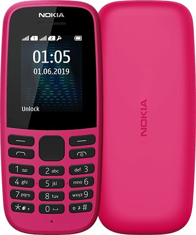 New Nokia 105 Dual SIm (2019)- Pink