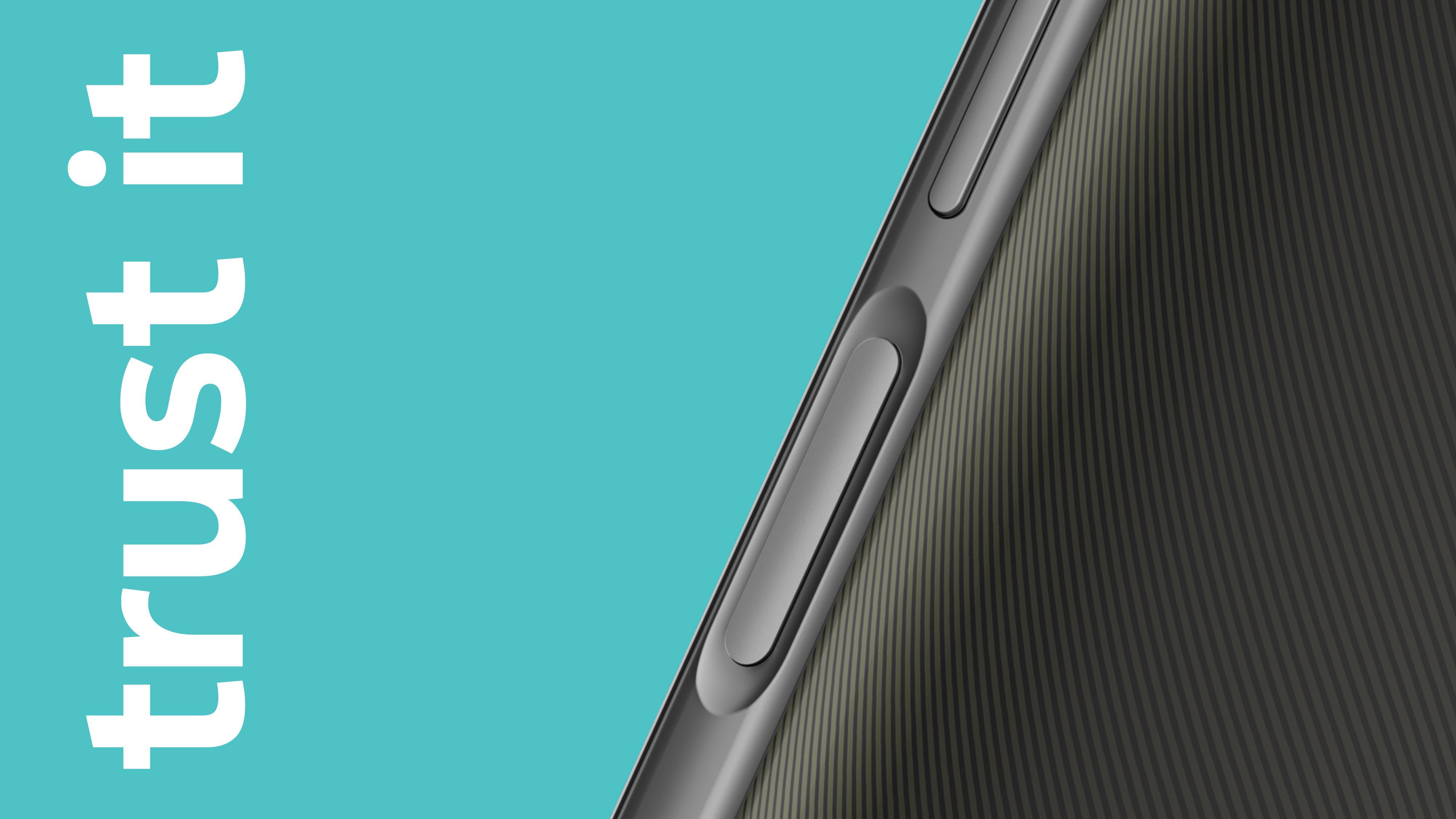 Close-up of the fingerprint sensor on Nokia G300