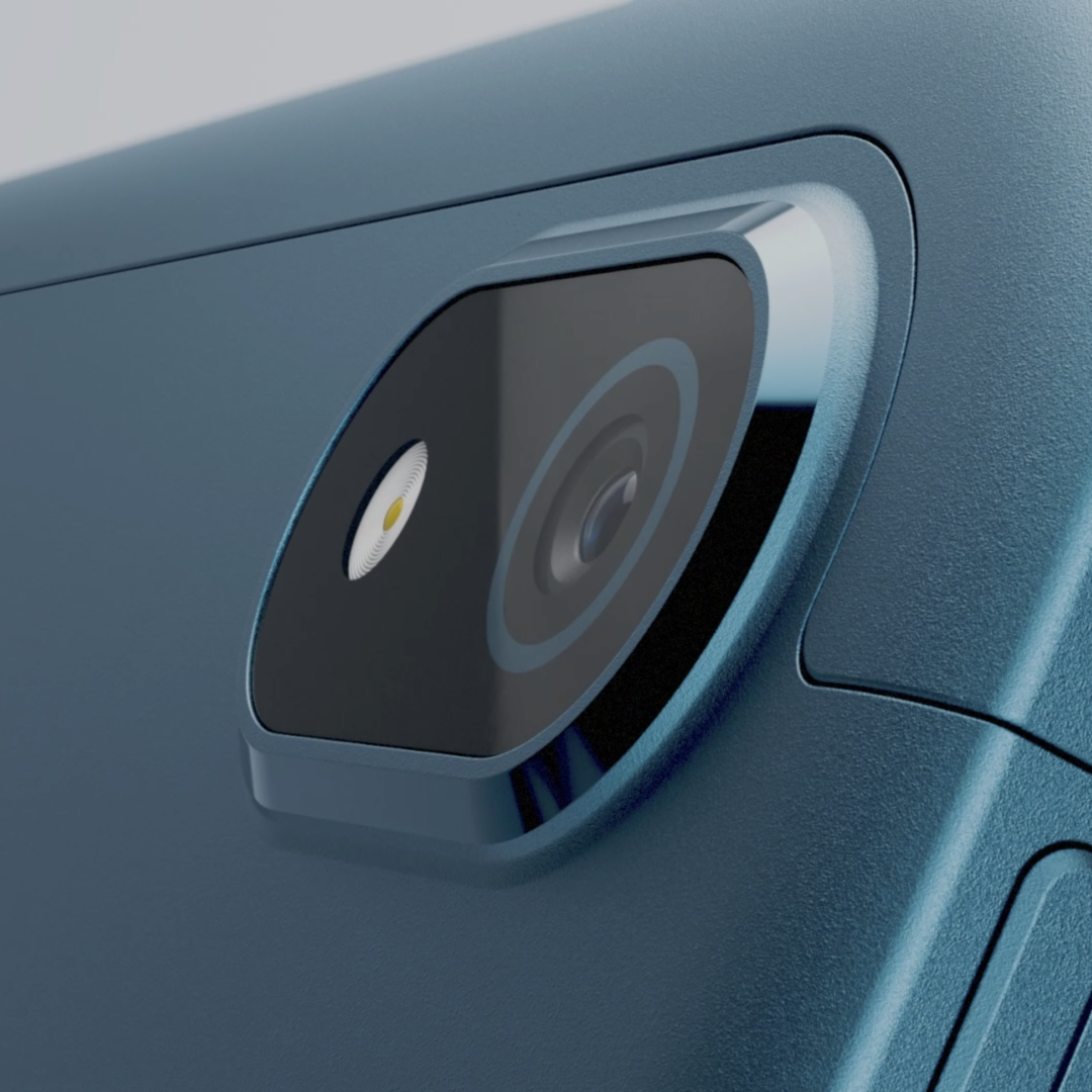 Close-up of the camera on the Nokia T20