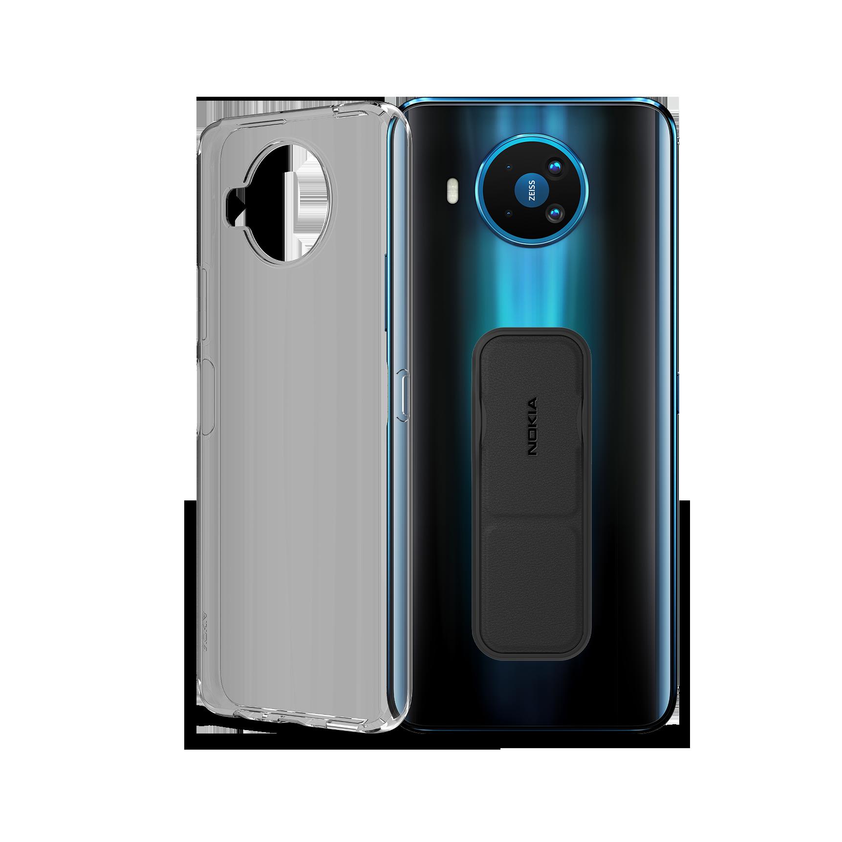 Nokia 8.3 5G + Nokia Clear Case + Nokia Grip and Stand