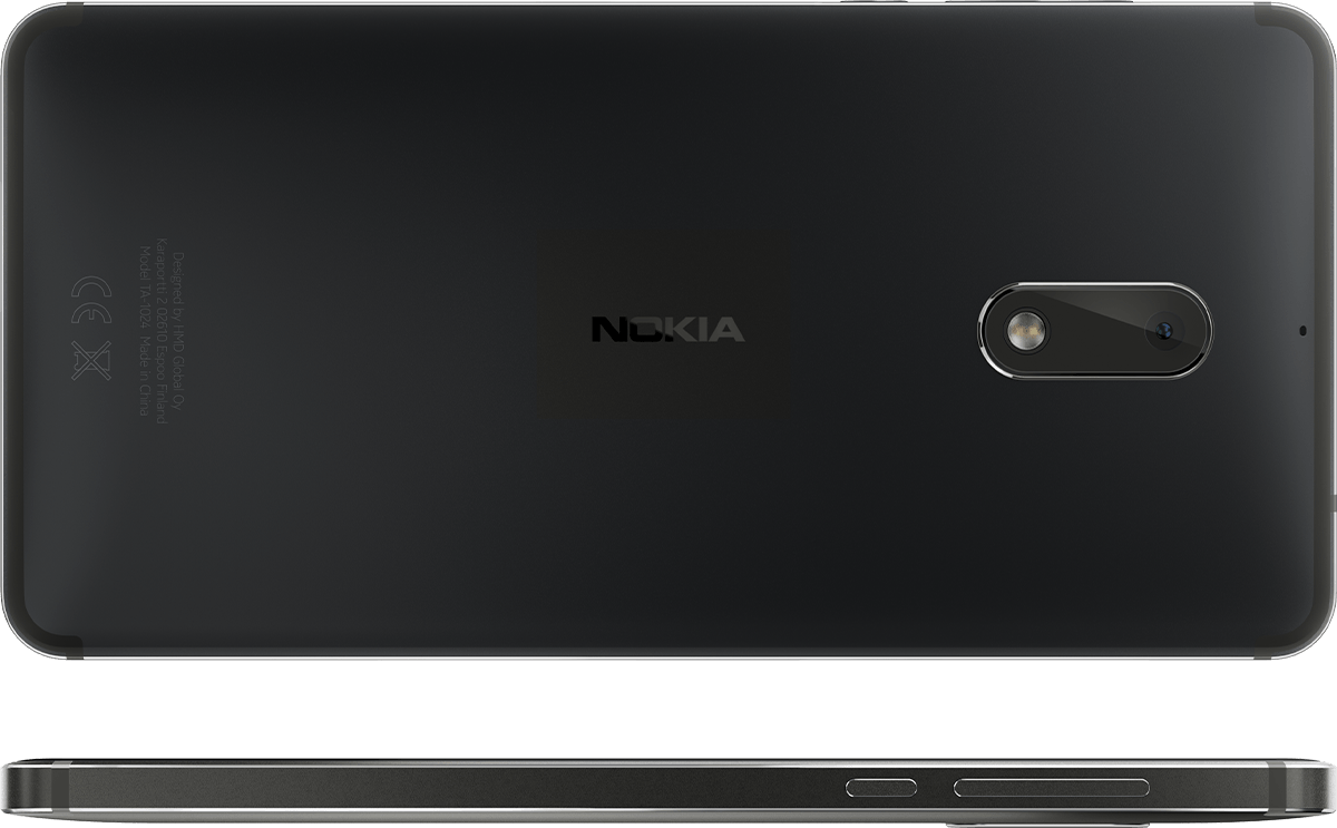 Nokia 6 back and side - Black Matte.png