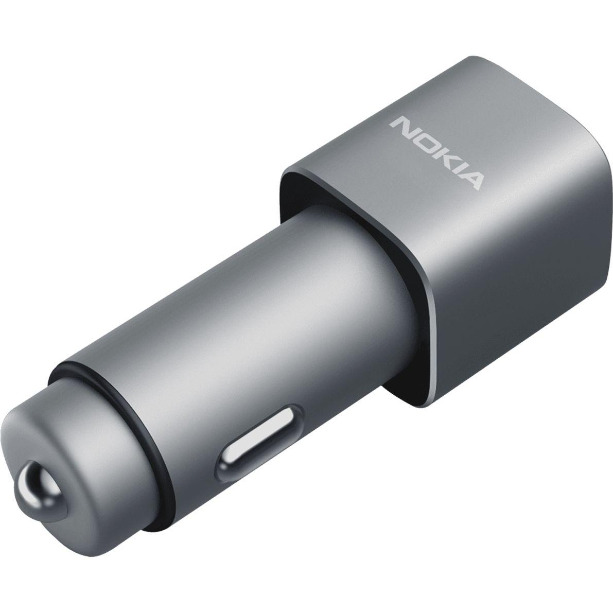 Podwójna ładowarka samochodowa USB Nokia z obsługą Quick