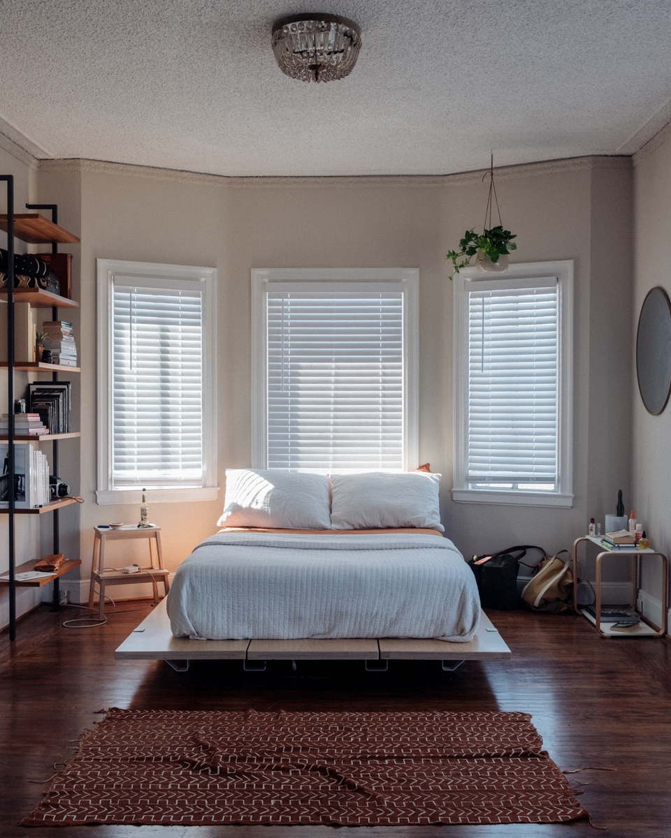 Kameron Richie's Berkeley apartment is a perfect example of using minimalism to make a small space feel more expansive.