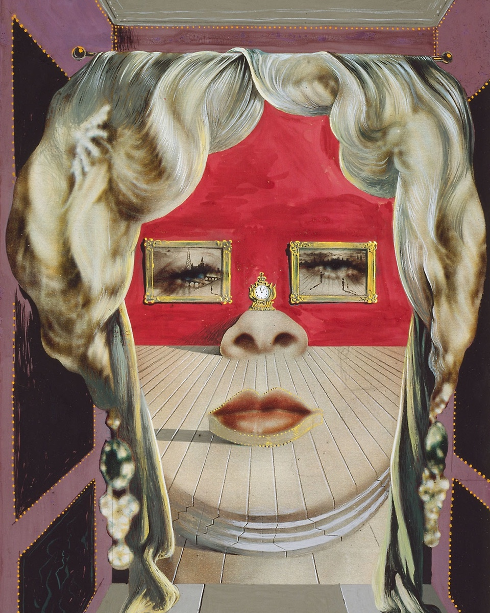 """The Face of Mae West Which May Be Used as a Surrealist Apartment"" was painted in 1935. Image via"