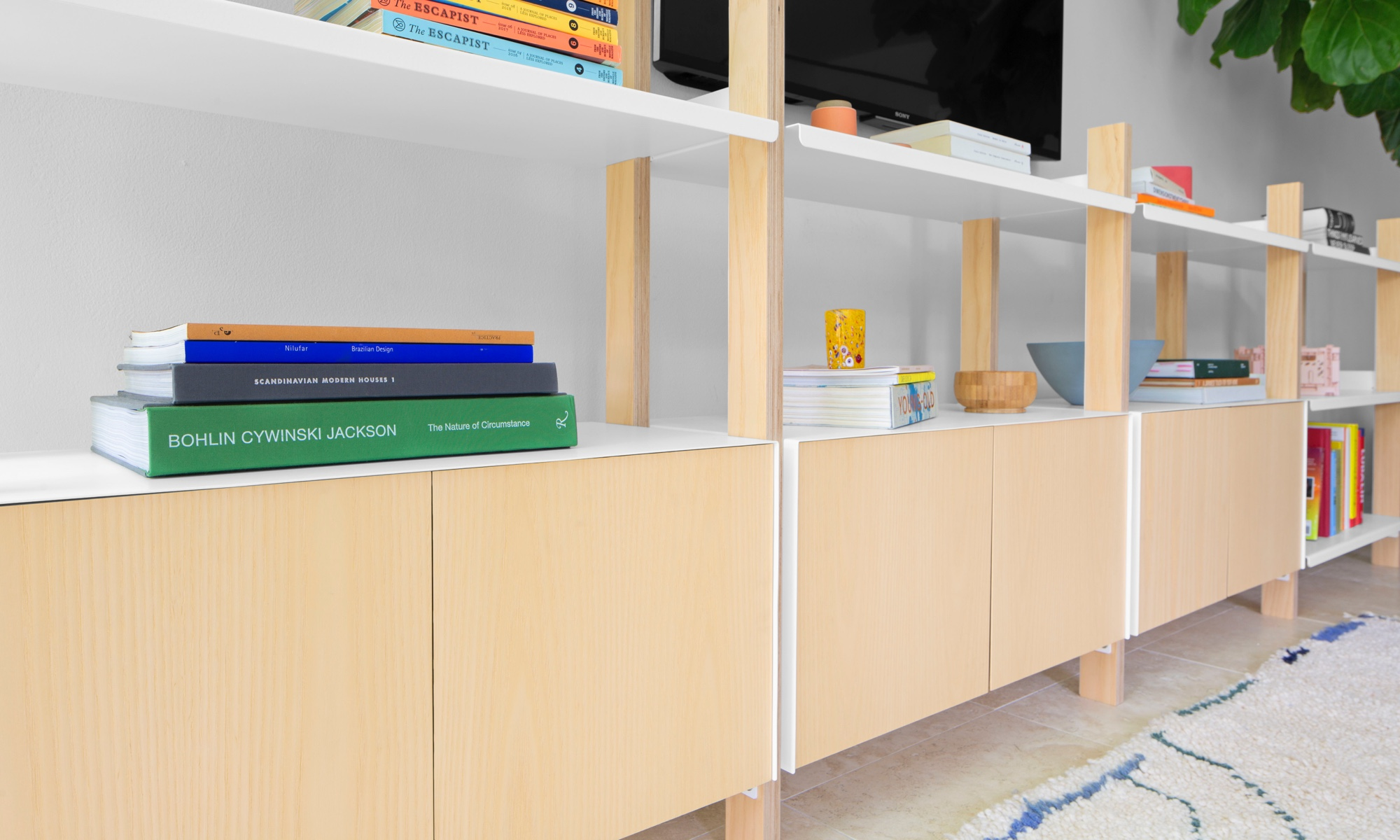 The sleek Cabinet Add-On is the newest addition to our modular Shelving System.