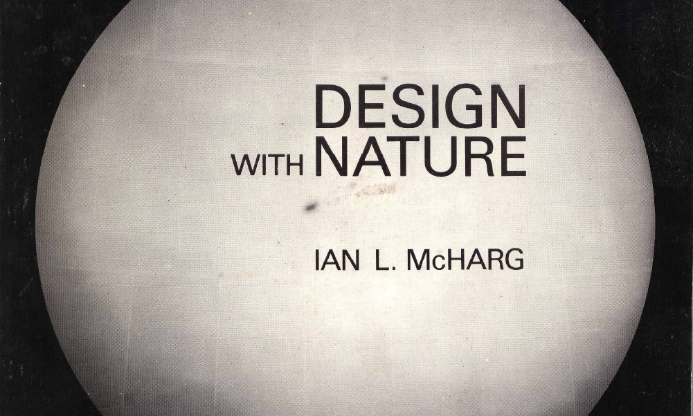 The 1969 cover of Design with Nature