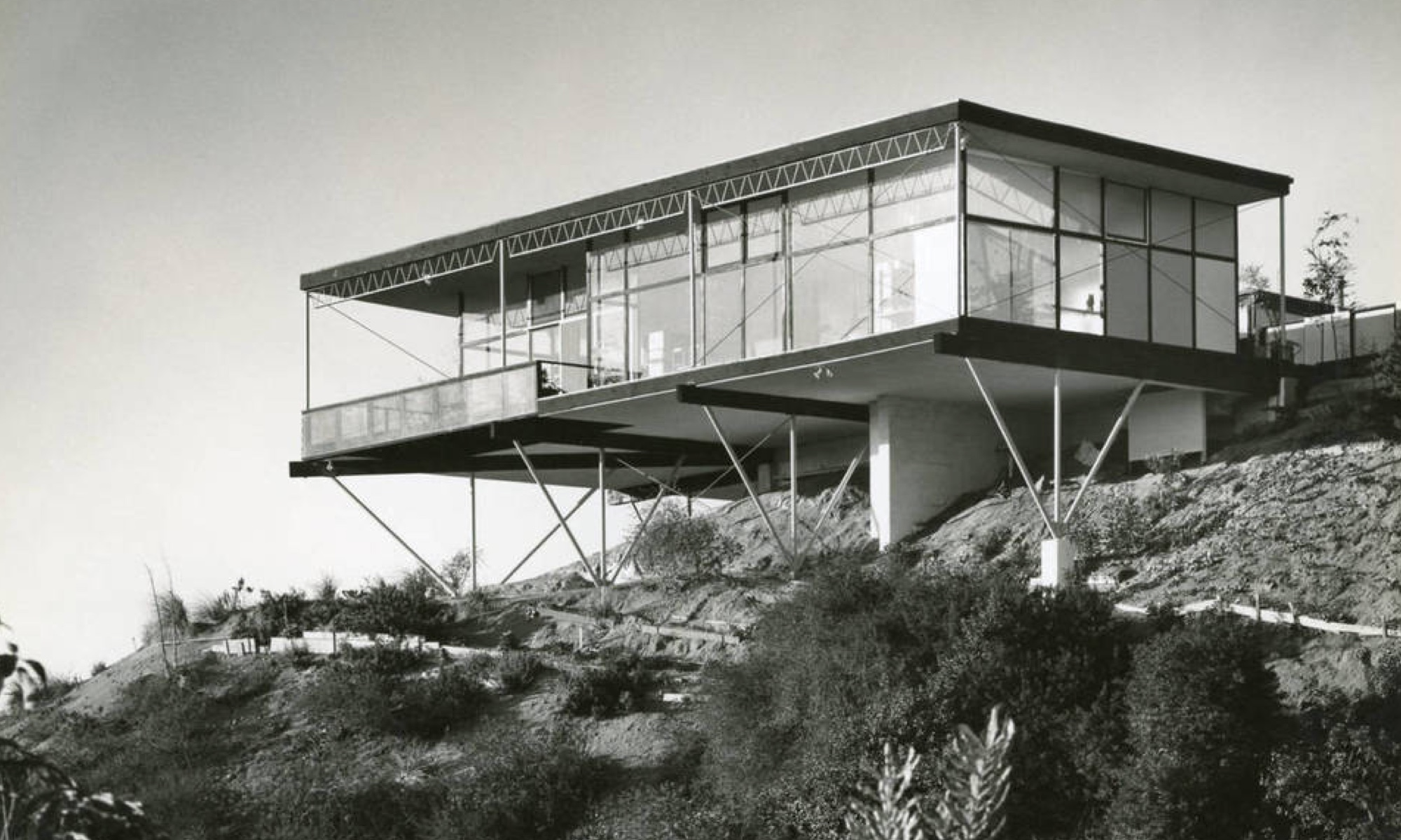 The Grossman home in the Hollywood Hills, 1956.