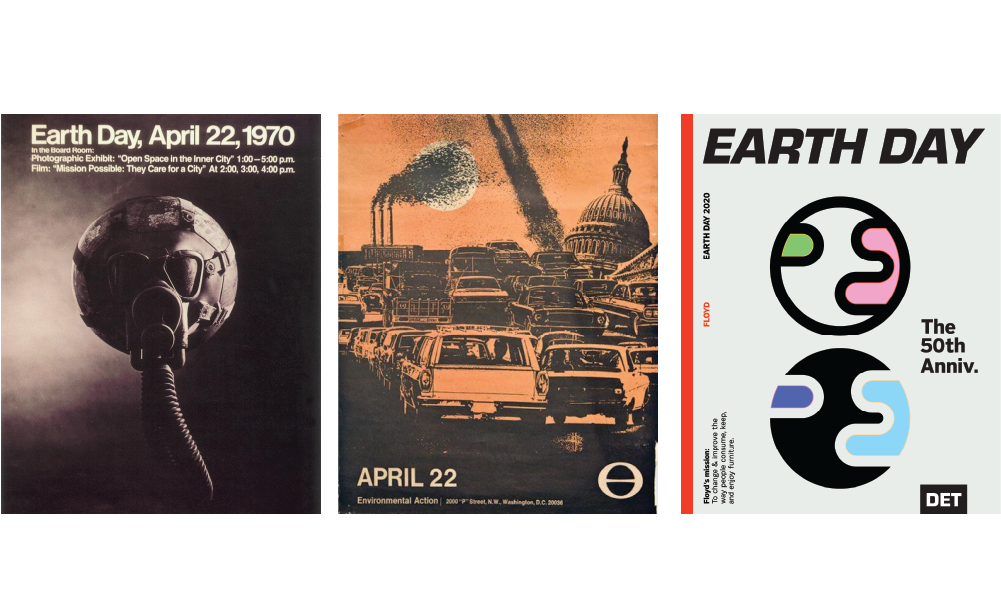 Posters from Earth Days past & present.