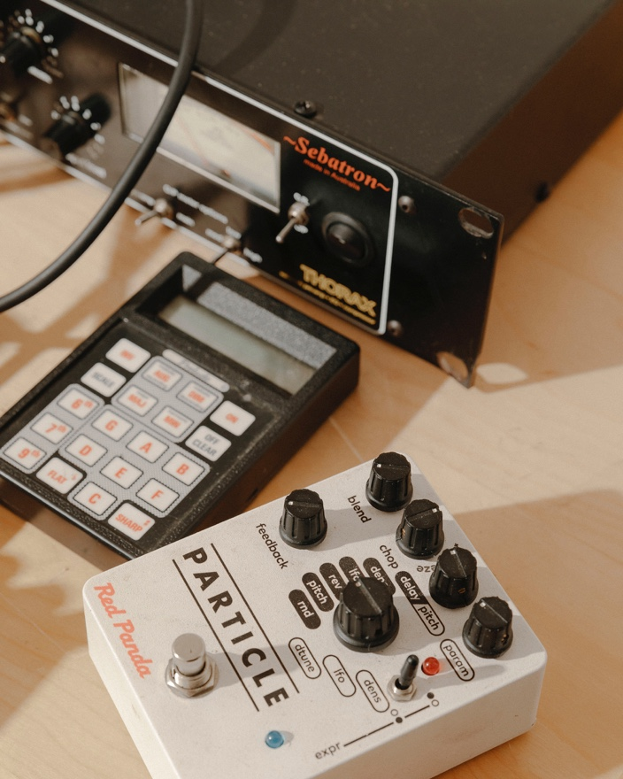 Jay uses a lot of analog equipment to produce his music.
