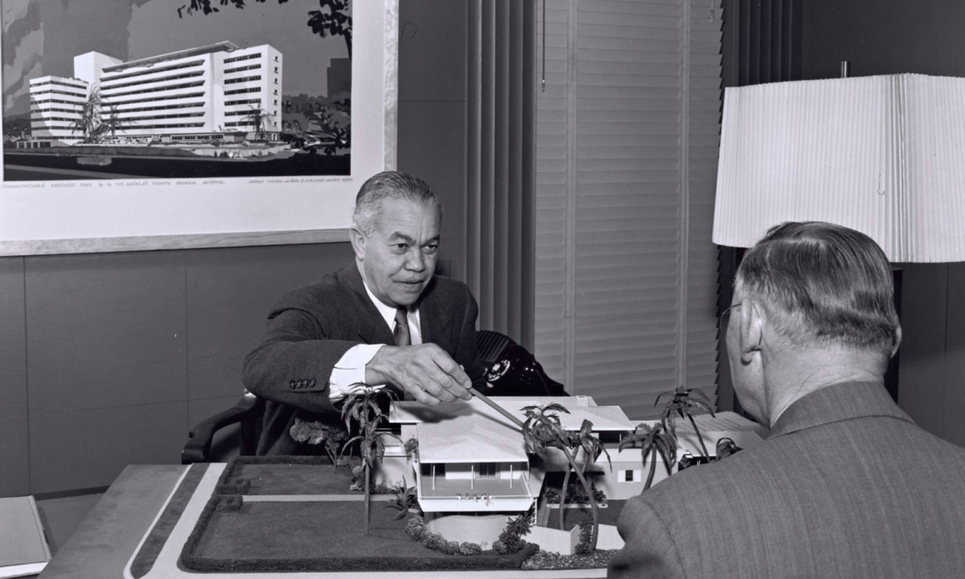 Paul Revere Williams in his Los Angeles office.