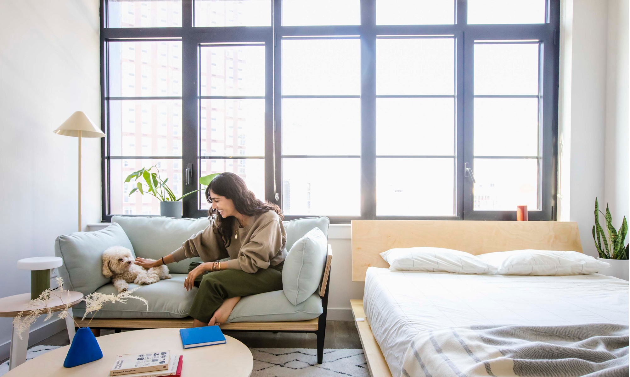 You can have a sofa in your small studio apartment, we promise. It just may have to be petite!