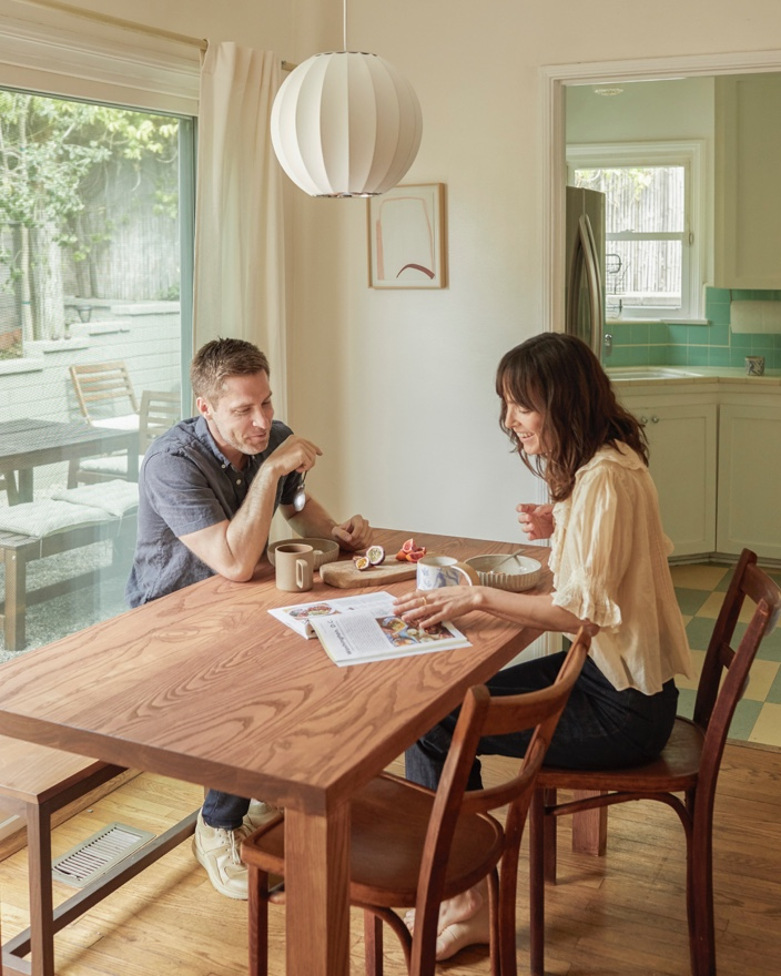 Jodi & Alex love having a space that flows from indoor to outdoor, especially when they're hosting friends.
