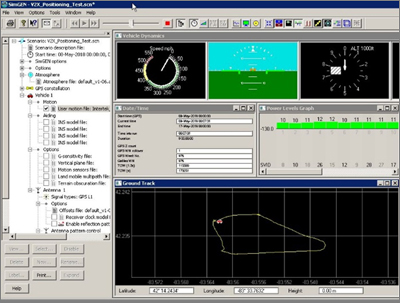 Simulation of Intertek test track in Spirent SimGen tool