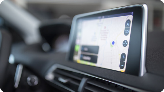 The GSS7000 enables precise positioning, such as required for in-car navigation systems
