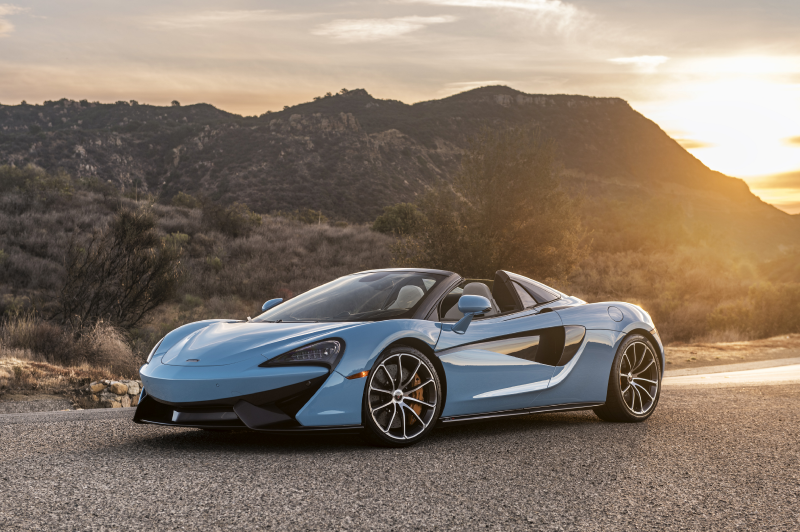 The McLaren 570s Spider in Baby Blue
