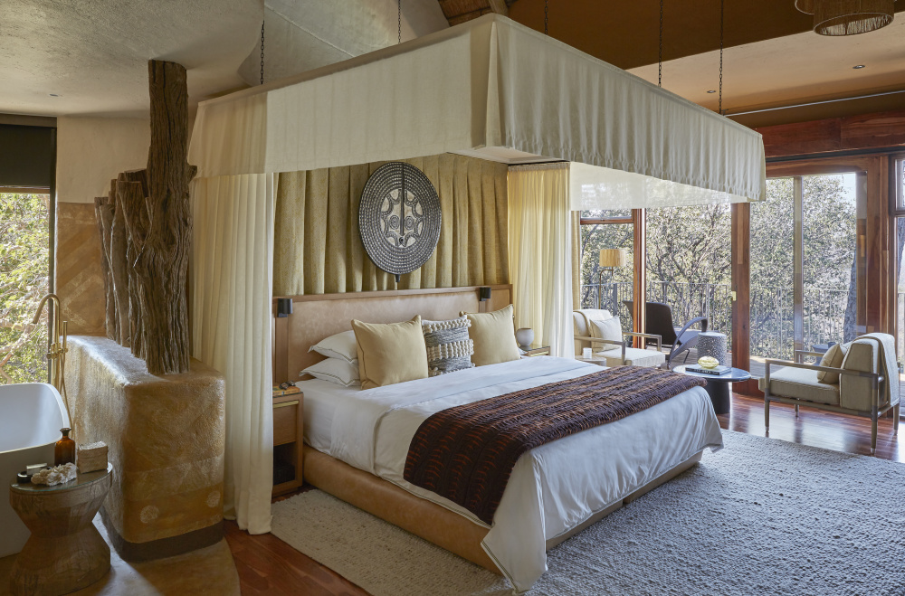 With design inspired by Zimbabwe's culture and landscapes, the suites at Singita Malilangwe House and Singita Pamushana Lodge offer an authentic, luxury experience